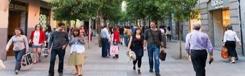Calle Fuencarral, hippe winkelstraat in Madrid